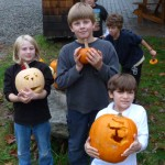 Grade School Pumpkin Carving Day, October 2012