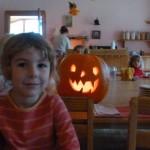 Kindergarten Pumpkin Carving Day, October 2012