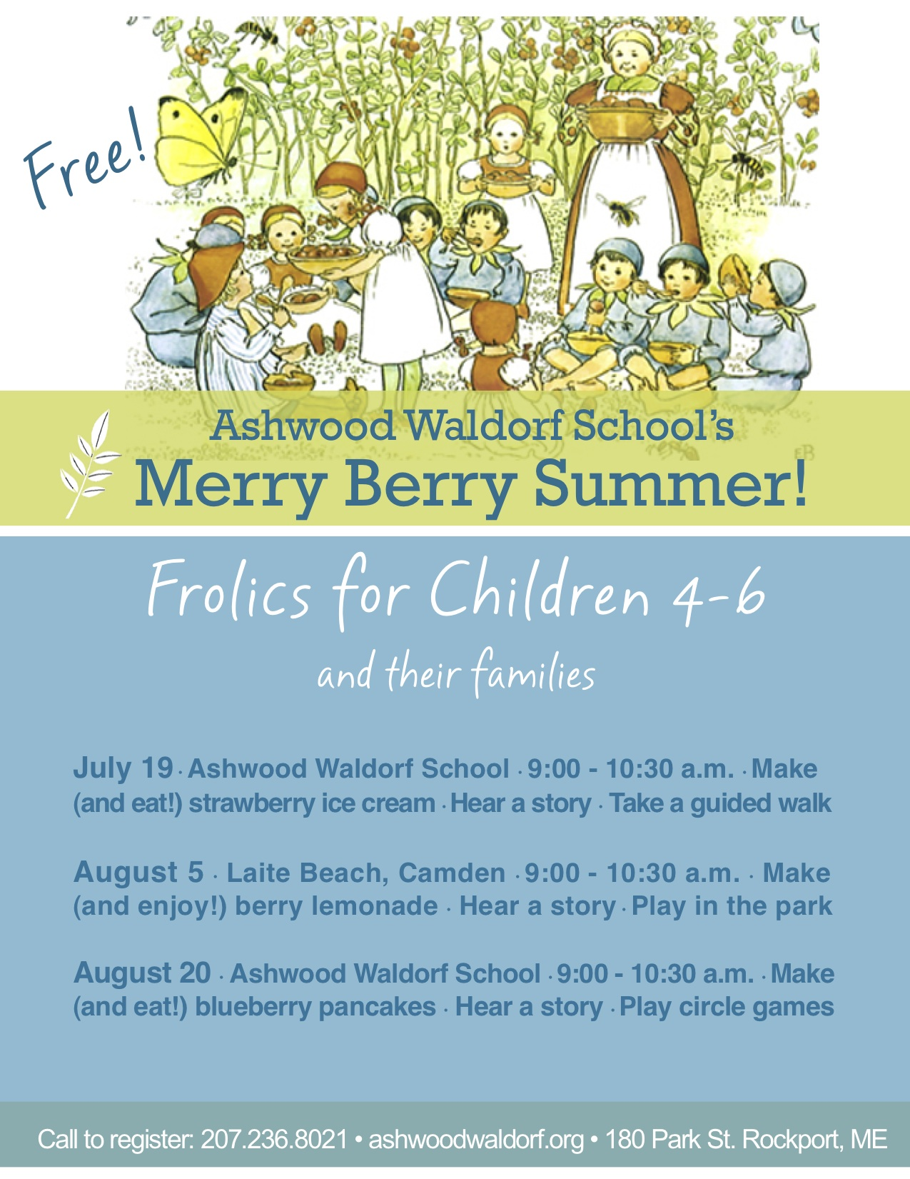 Merry Berry Summer @ Ashwood Waldorf School | Rockport | Maine | United States