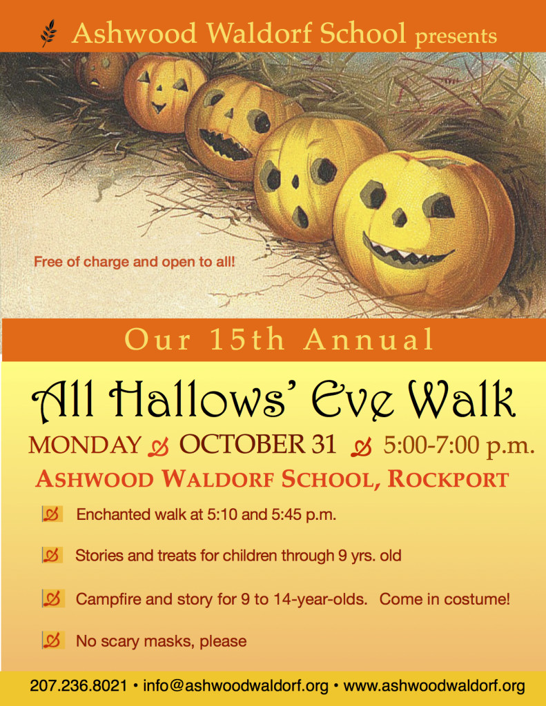 All Hallows' Eve Walk: NOTE DATE CHANGE!