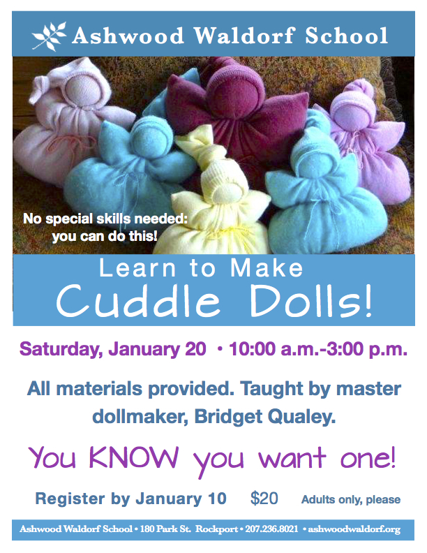 Cuddle Doll Workshop @ Rosewood Early-Childhood Building, Ashwood Waldorf School