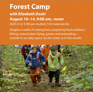 Forest Camp; date subject to change @ Ashwood Waldorf School